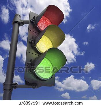 剪贴画 - 交通 电灯,艺术品