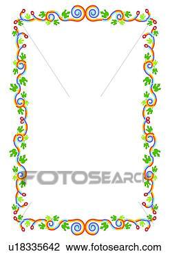剪贴画 - 边缘, 花, 框架