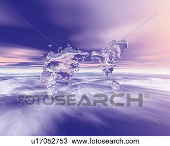 水晶, 世界地图