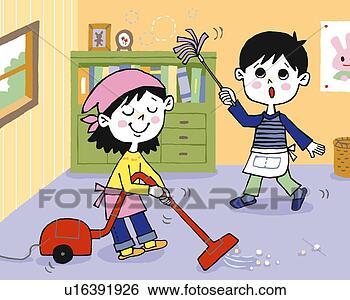 儿童的房间画图片