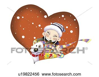 冬季可爱卡通图片