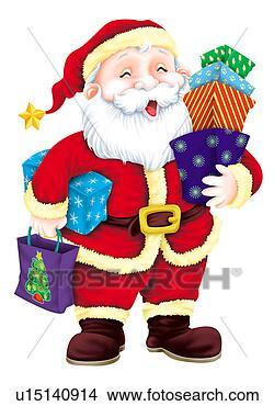 剪贴画 - 圣诞老人, 握住