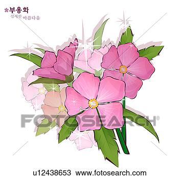 手绘图 - 花, 性质, 植物