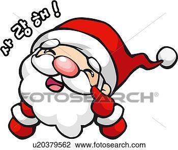 剪贴画 - 圣诞老人, 节日