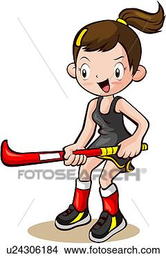 Stock Illustration - person, sports,  people, hockey  stick, summer,  field hockey.  fotosearch - search  clipart, illustration  posters, drawings  and vector eps  graphics images