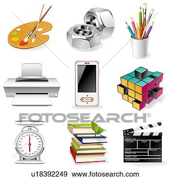 cgi, 书, 创造性, 刷子, 办公室工具, 办公室提供, 变化, 商业, 图, 图标, 图表, 在中, 在线上, 堆, 夹子艺术, 安排, 容器, 射击, 屏幕, 工具, 广场, 形象, 怀特, 总理, 想像, 打印机, 技术, 拿, 描述, 摘要, 放置, 教育, 数字, 数字的艺术, 文具, 水颜色, 涂描形象, 涂料托盘, 现代, 电子的设备, 画笔, 白的背景, 的部分, 矢量, 知识, 移动电话, 立方, 符号, 系列, 绘画, 背景;, 色彩丰富, 艺术, 艺术品, 螺丝, 行, 计算机制