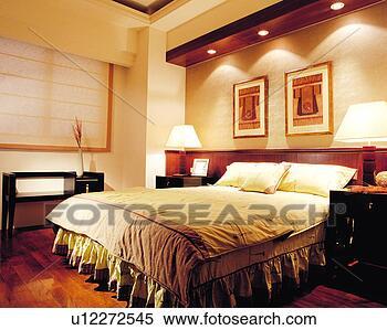 Banque d 39 image chambre coucher d coration int rieure - Decoration interieure chambre a coucher ...