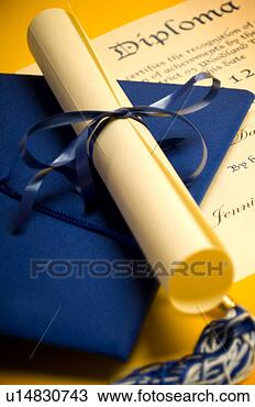 Stock Photo - graduation cap 