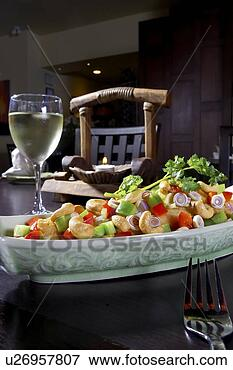 cashew chicken dish paired with white wine u26957807 image mix stock