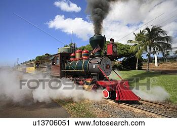 Sugar Cane Train, Maui, Hawaii, U.S.A.' View Large Photo Image