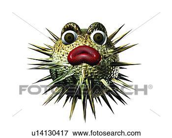 Bild - söt,  swellfish,   djur,  tecknad  film,  3. fotosearch  - sök bilder,  foton och illustrationer