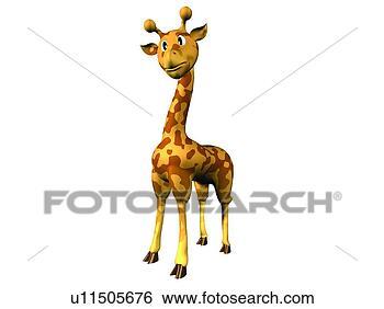 Archivio di immagini carino giraffa cartone animato - Cartone animato giraffa da colorare pagine da colorare ...