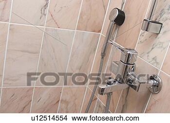 stock foto badezimmer dusche bad keramisch nahaufnahme fliesenmuster u12514554 suche. Black Bedroom Furniture Sets. Home Design Ideas