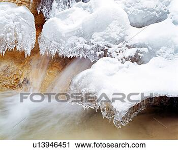 Stock photography snow scene of kalong gully sichuan fotosearch