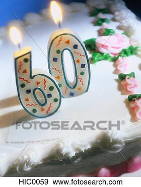 Stock Photograph - sixtieth birthday  cake. fotosearch  - search stock  photos, pictures,  images, and photo  clipart