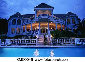 Banco de Imagem - jamaicano, vila.  fotosearch - busca  de fotos, imagens  e clipart