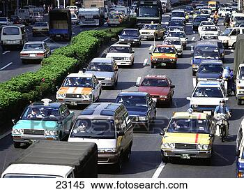 Stock Image - traffic jam. fotosearch  - search stock  photos, pictures,  images, and photo  clipart