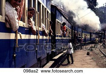 Stock Photo - view along steam  train carriages  india asia. fotosearch  - search stock  photos, pictures,  images, and photo  clipart