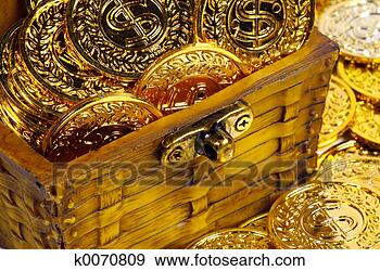 Stock Photograph - treasure chest.  fotosearch - search  stock photos,  pictures, wall  murals, images,  and photo clipart