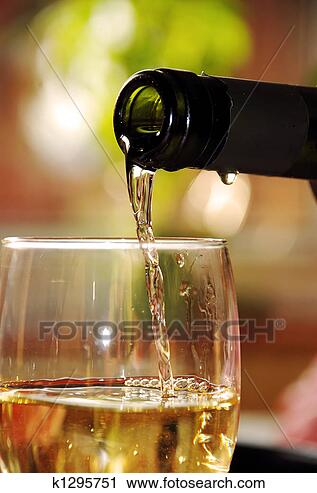 Stock Photography - glass of white wine. fotosearch - search stock photos, pictures, wall murals, images, and photo clipart