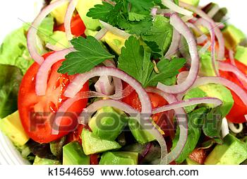 Stock Photograph - delicious tossed  salad. fotosearch  - search stock  photos, pictures,  wall murals, images,  and photo clipart