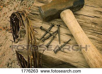Banco de Imagem - símbolos, christ's,  crucificação.  fotosearch - busca  de fotos, imagens  e clipart