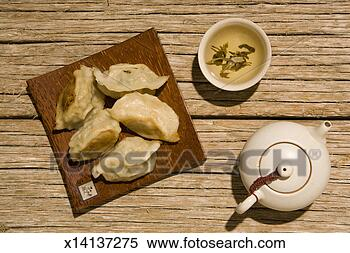 Stock Image - pot stickers.  fotosearch - search  stock photos,  pictures, wall  murals, images,  and photo clipart