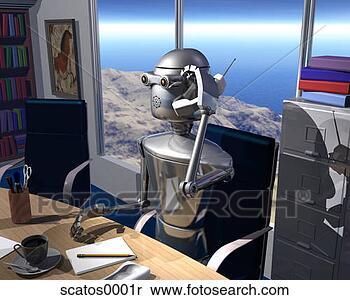 Colección de imágen - robotes, robótica,  futuro, futurista,  androide, droid,  máquina. fotosearch  - buscar fotos  e imágenes y murales  de pared, imágenes  y fotos de clip-art