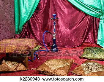 Stock Photo - hookah room. fotosearch  - search stock  photos, pictures,  images, and photo  clipart