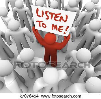 Banco de Imagem - escutar, sinal, Pessoa, Tries, adquira, atenção, torcida. Fotosearch - Busca de Imagens, Fotografias Mural, Fotos Clipart