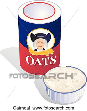 Drawing - oatmeal. fotosearch  - search clipart,  illustration,  drawings and vector  eps graphics images
