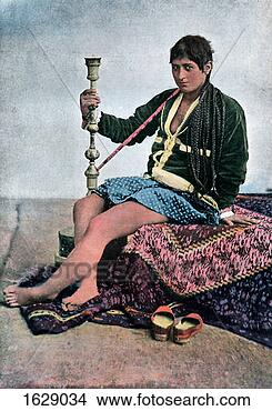 Stock Photo - persian woman  smoking in kalgan.  fotosearch - search  stock photos,  pictures, images,  and photo clipart