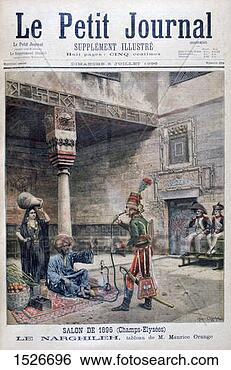 Stock Photo - 'the narguileh',   egypt,  1896  an illustration  from
