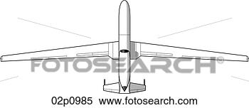 global hawk top View Large Clip Art GraphicGlobal Hawk Drawing