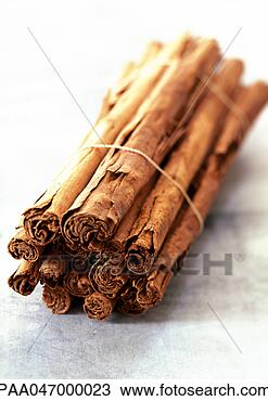 Stock Photo - bundle of cinnamon sticks, close-up. fotosearch - search stock photos, pictures, images, and photo clipart