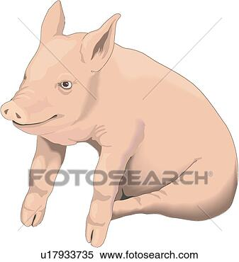 Clipart - piglets. fotosearch  - search clipart,  illustration,  drawings and vector  eps graphics images