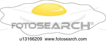 Clip Art - fried egg. fotosearch  - search clipart,  illustration,  drawings and vector  eps graphics images