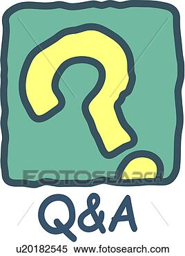 Clipart - site, q&a, logo,  question mark,  q&a, web, login.  fotosearch - search  clipart, illustration,  drawings and vector  eps graphics images
