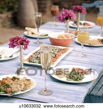 Stock Photo of Food served on a dining table u10633032 - Search ...