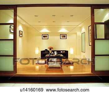 Banque de photographies meubles d coration plancher for Meuble deco japonaise