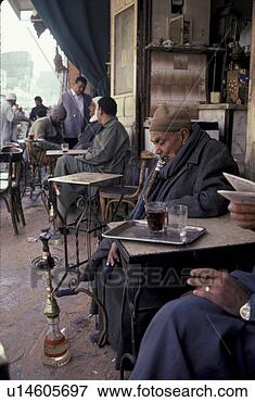 Picture - person, smoking,  egypt, 3168, people.  fotosearch - search  stock photos,  pictures, images,  and photo clipart