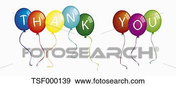 Stock Photograph - text thank you on colorful balloons against white background. fotosearch - search stock photos, pictures, wall murals, images, and photo clipart