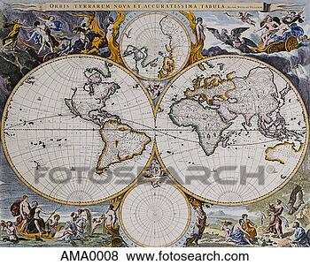 World Map Hemisphere
